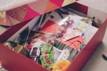 arts and crafts blur box close up